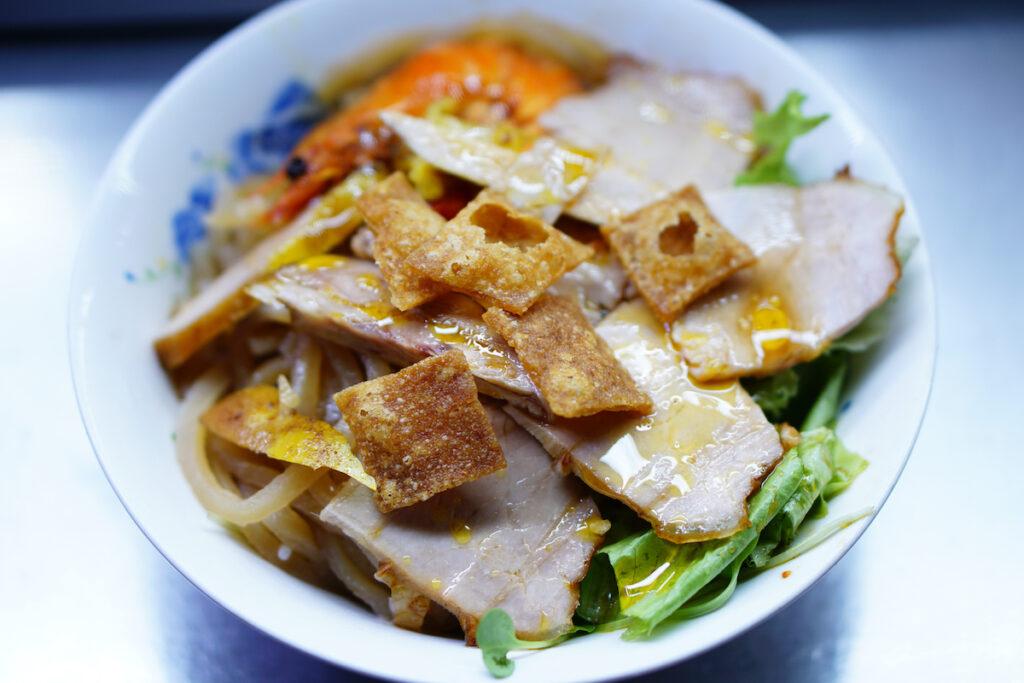 Cao lau noodles.