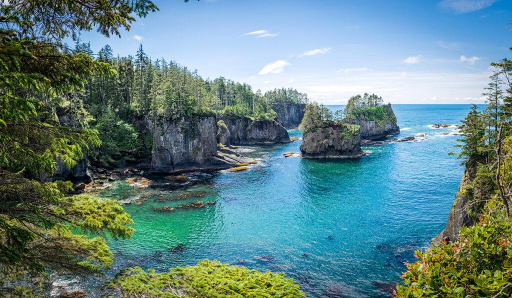 Cape Flattery on the coast of Washington.