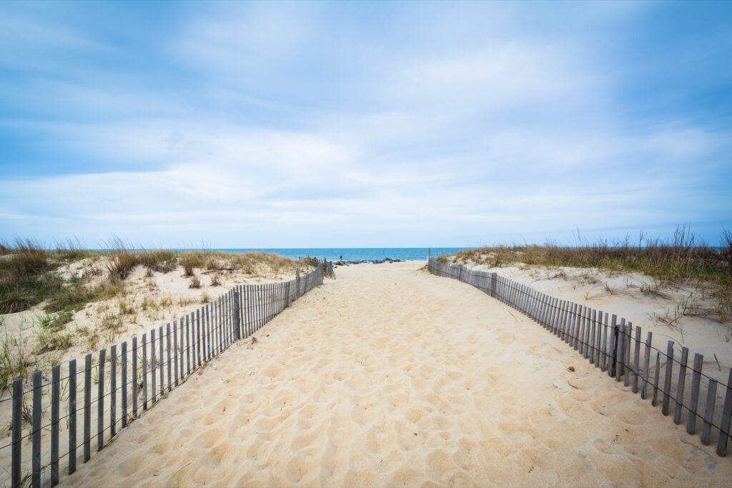 Cape Henlopen State Park in Rehoboth Beach, Delaware.