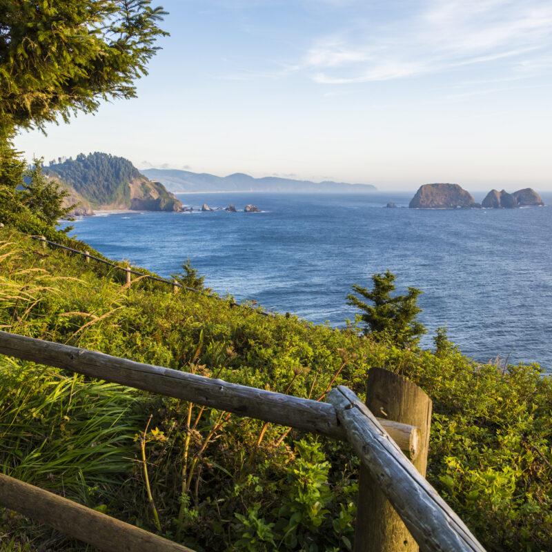 Cape Meares on the coast of Oregon.