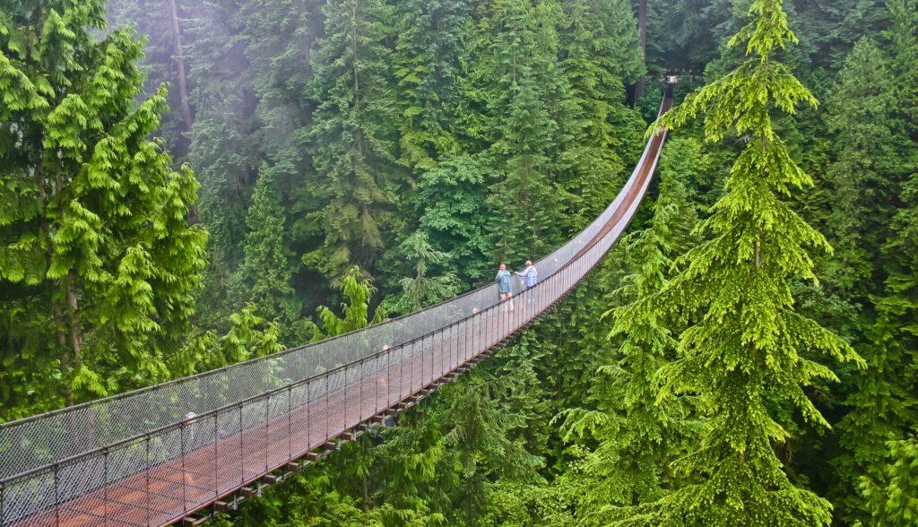 Capilano Suspension Bridge in Canada.