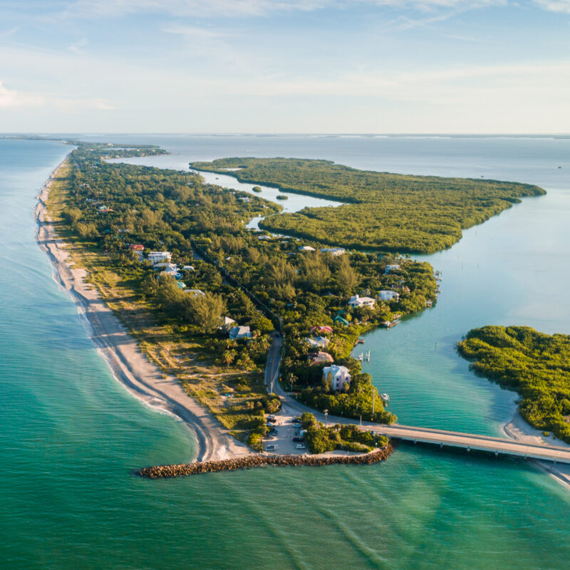 Captiva Island, Florida, aerial shot.