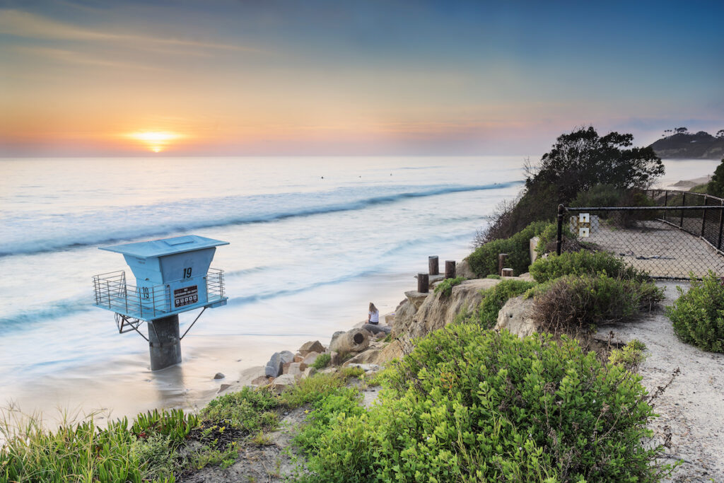 Cardiff-By-The-Sea in Encinitas, California.