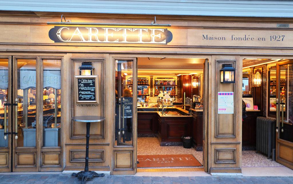Carette, sweet shop in Paris.