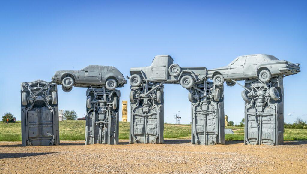 Carhenge in Nebraska.