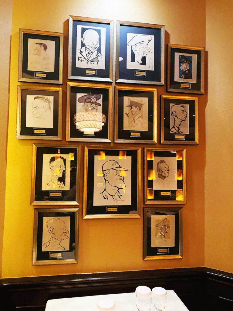 Caricatures at Jack's Place at Rosen Plaza in Orlando.