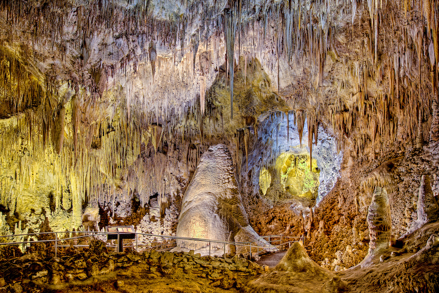 Carlsbad Caverns National Park in New Mexico.