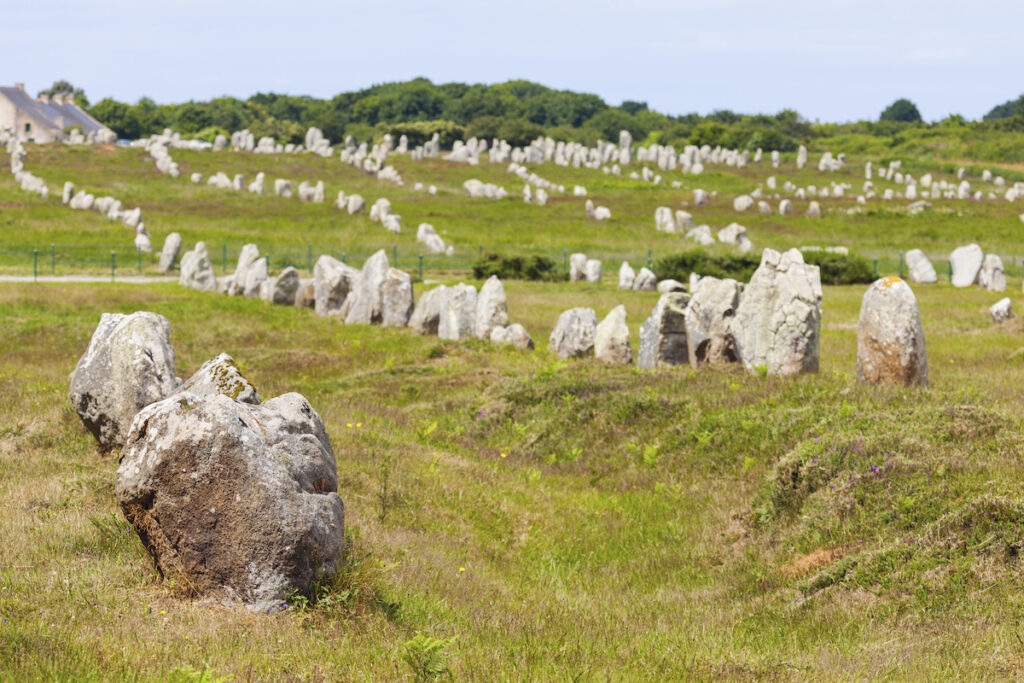 Carnac Stones in Brittany, France.