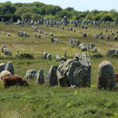 Carnac stones near Carnac, France.