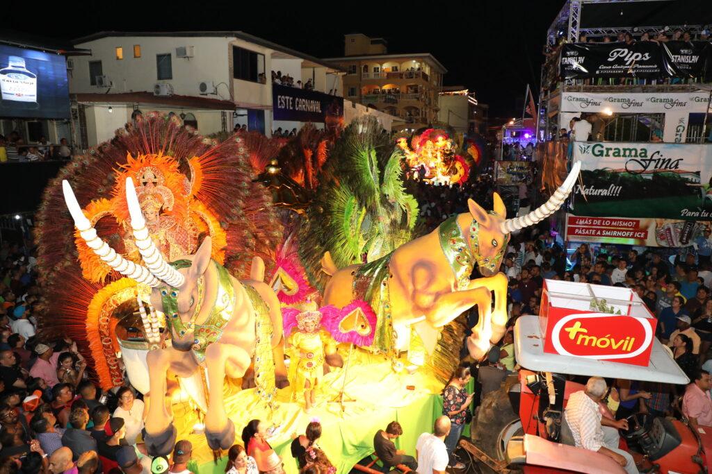 Carnival celebrations in Panama.