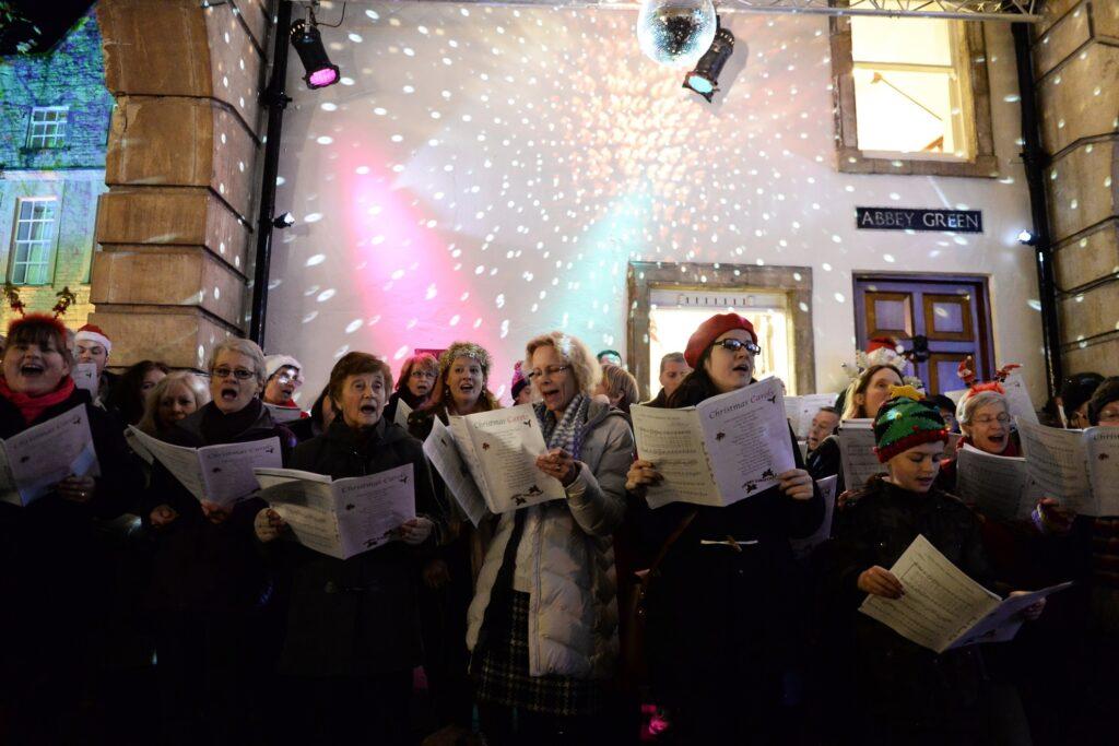 Carol singers in Bath, England.