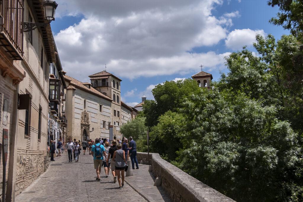Carrera del Darro in Granada, Spain.
