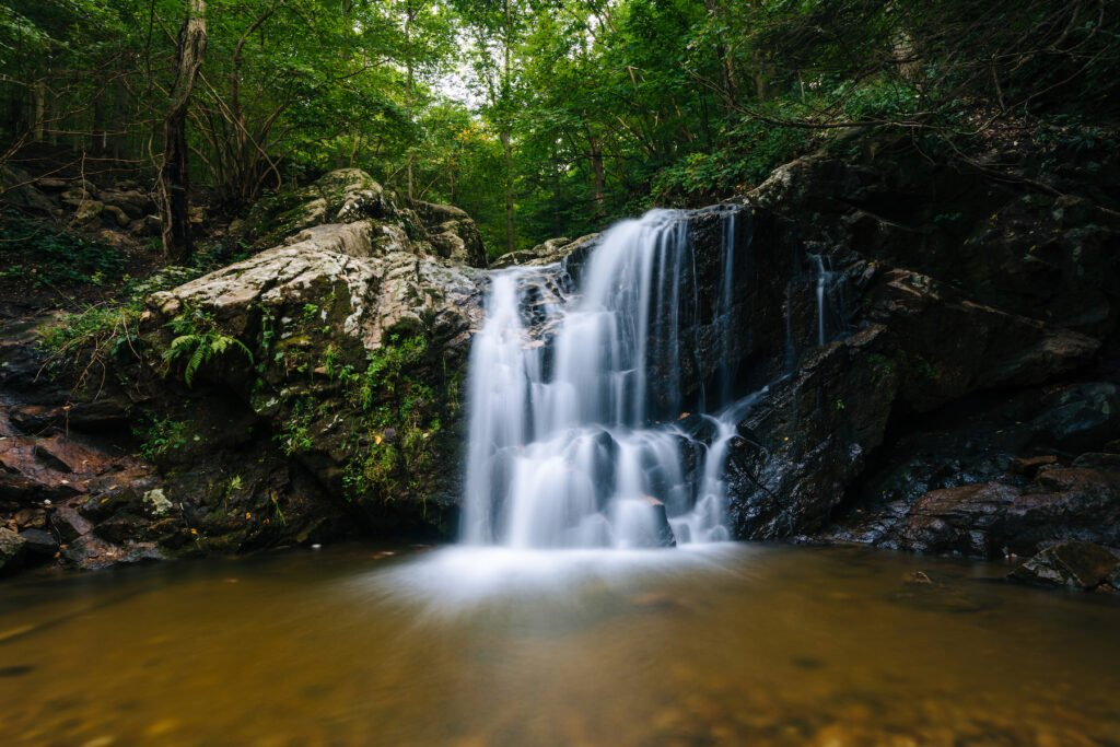 Cascade Falls in Maryland's Patapsco Valley State Park.