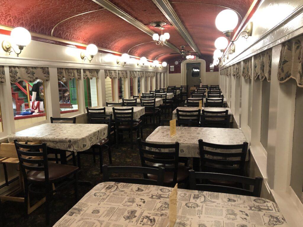 Casey Jones' Restaurant in the dining car.