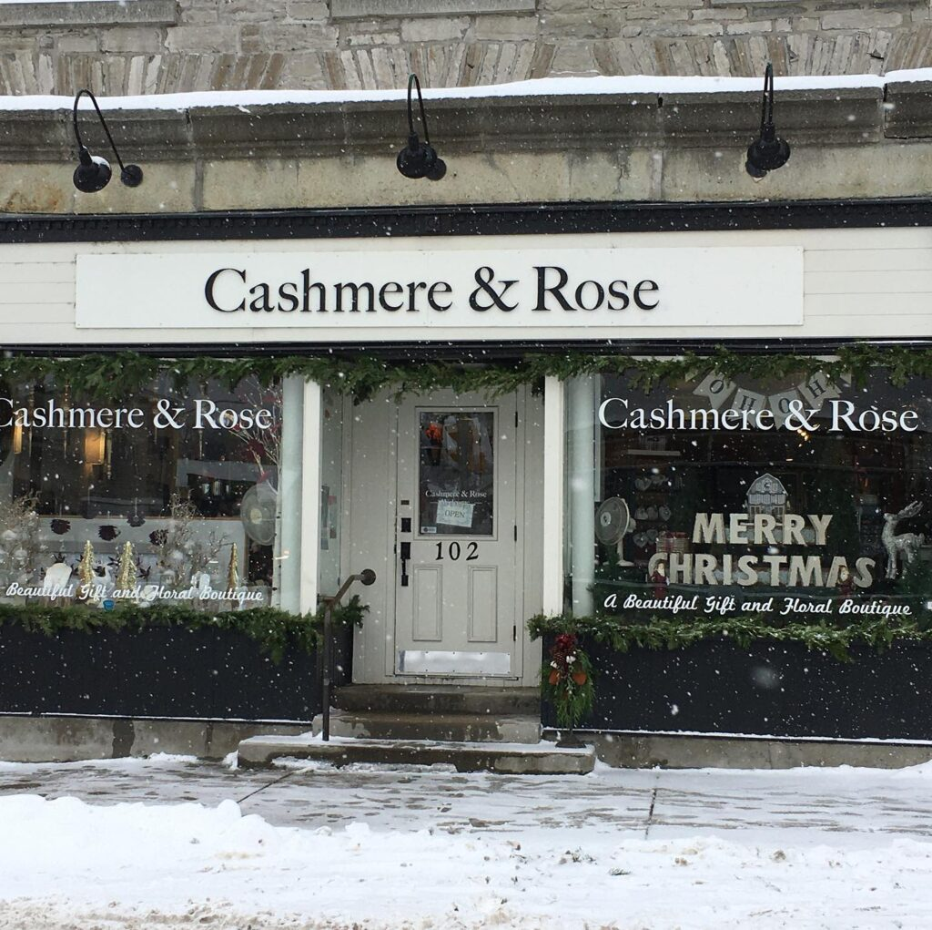 Cashmere And Rose, a flower and gift shop in Almonte, Ontario.