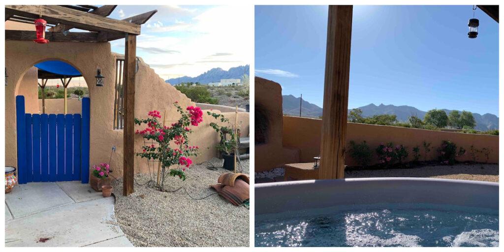 Casita Azul in Las Cruces, New Mexico.