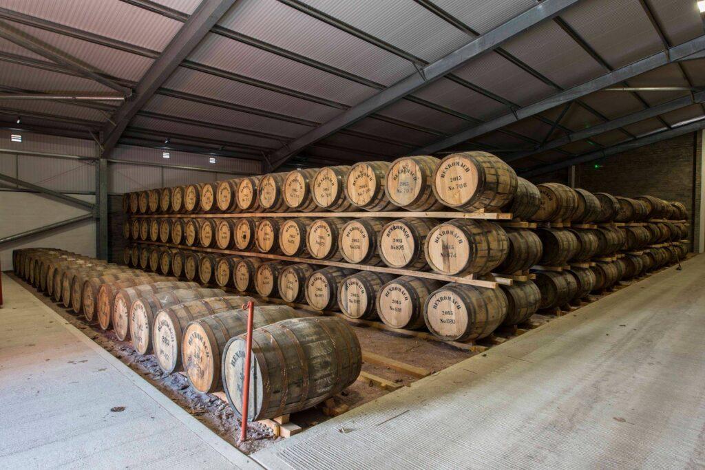 Casks full of Scotch whisky.