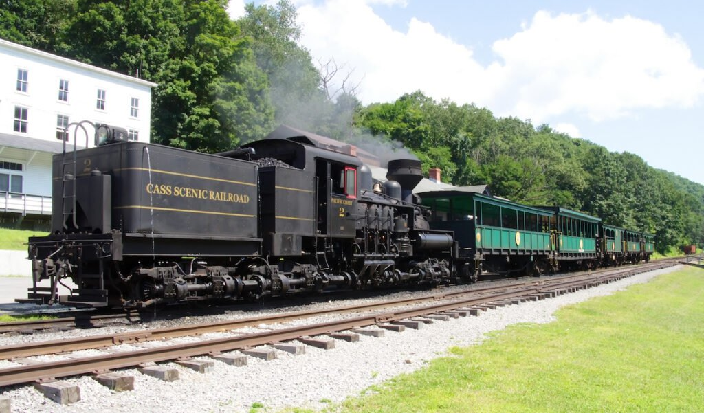 Cass Scenic Railroad State Park in West Virginia.