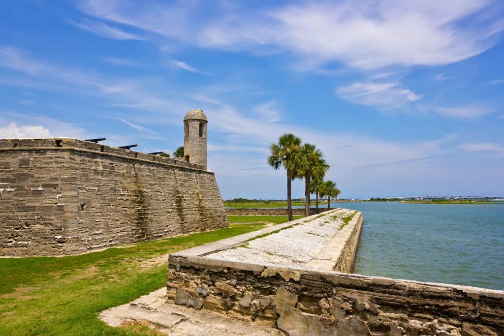 Castillo De San Marcos in St. Augustine, Florida.