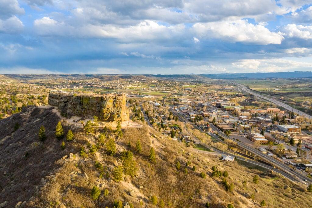 Castle Rock in Colorado.