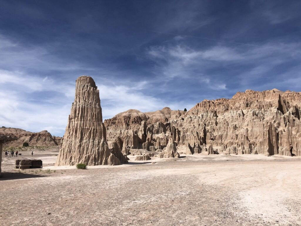 Cathedral Gorge State Park in Nevada.