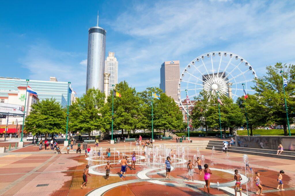 Centennial Olympic Park in downtown Atlanta.