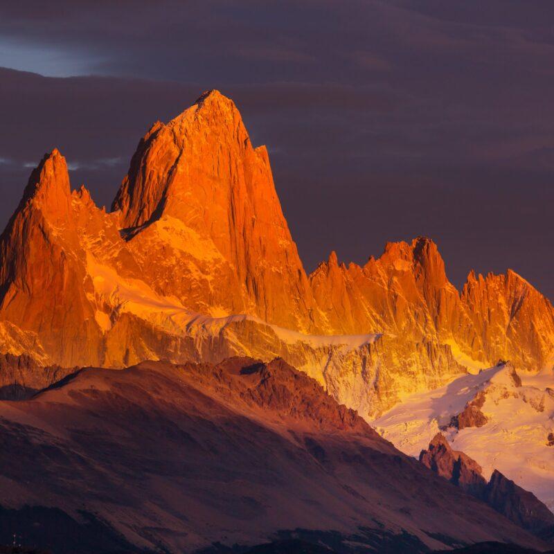 Cerro Fitz Roy in Patagonia, Argentina.