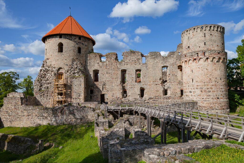 Cesis Castle in Cesis, Latvia.