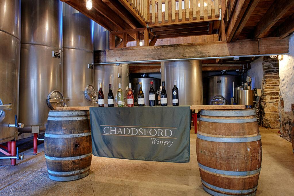 Chaddsford Winery barrel room, Kennett Square.