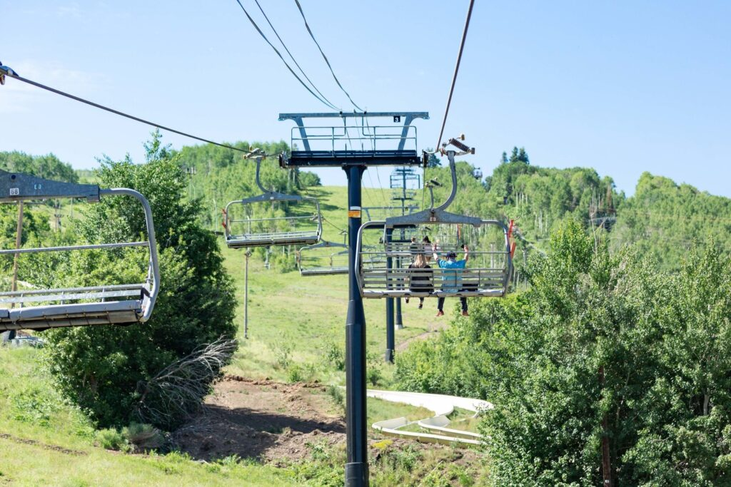 Chair lifts at Park City and Canyons Resort.
