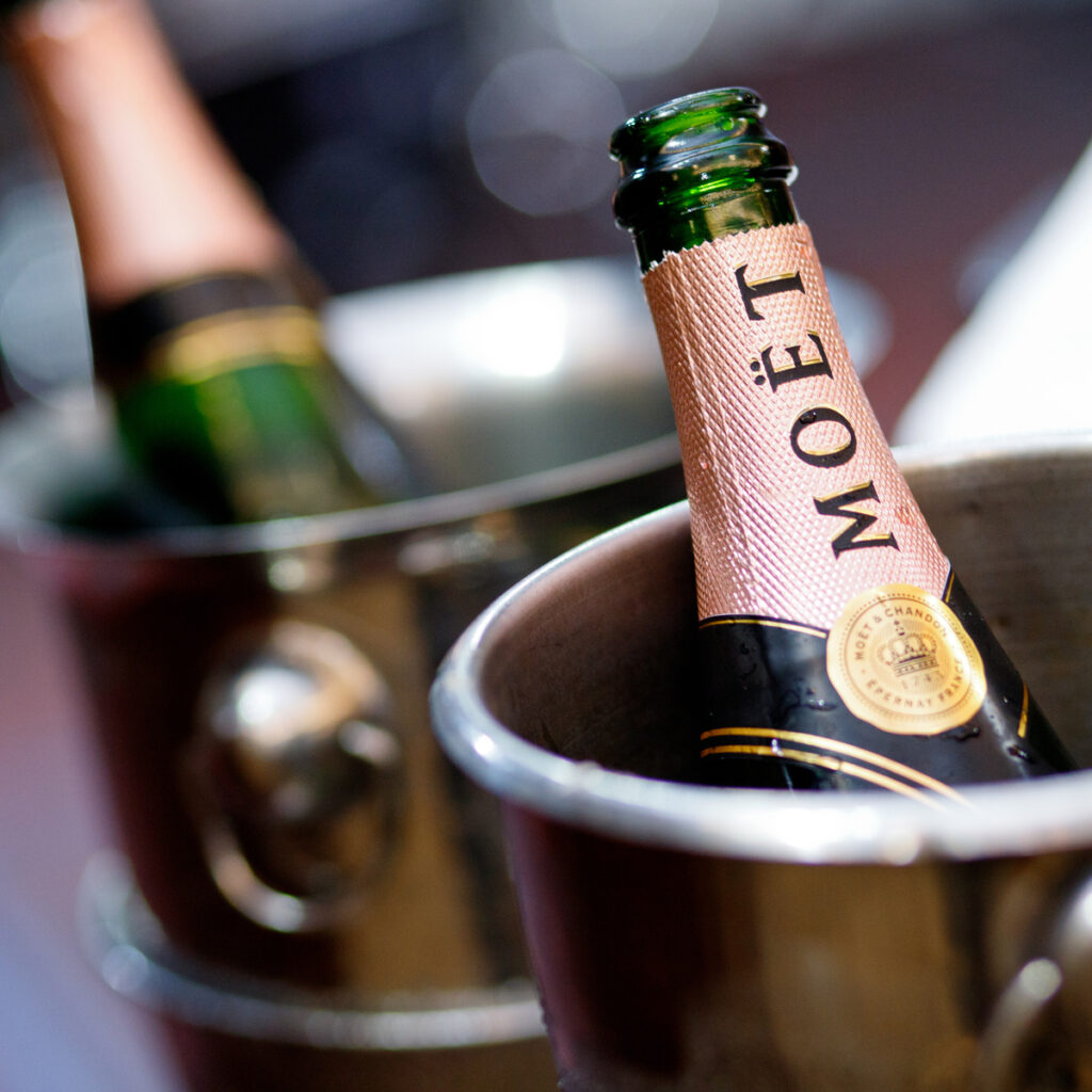 Champagne from Moet et Chandon in France.
