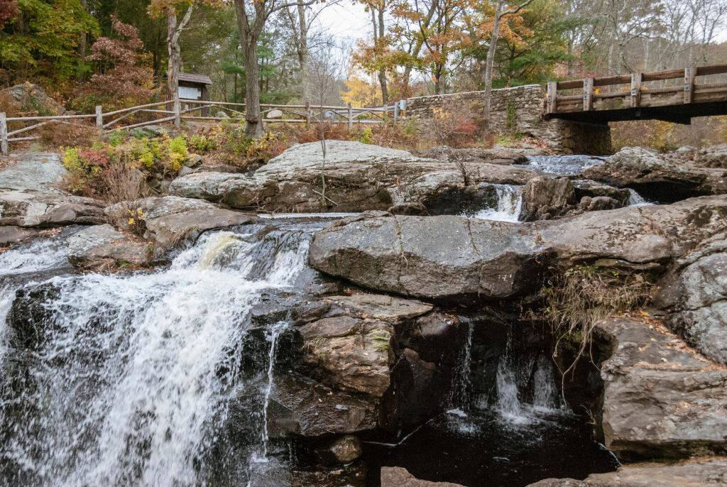 Chapman Falls in Devils Hopyard State Park.