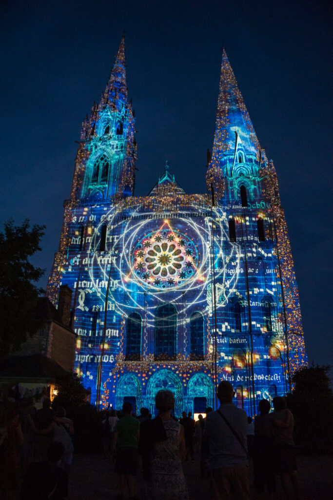 Chartres En Lumieres in Chartres, France.