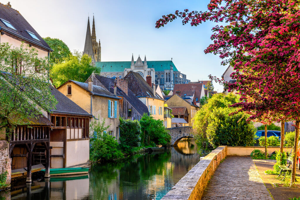 Chartres, France, a day trip from Paris.