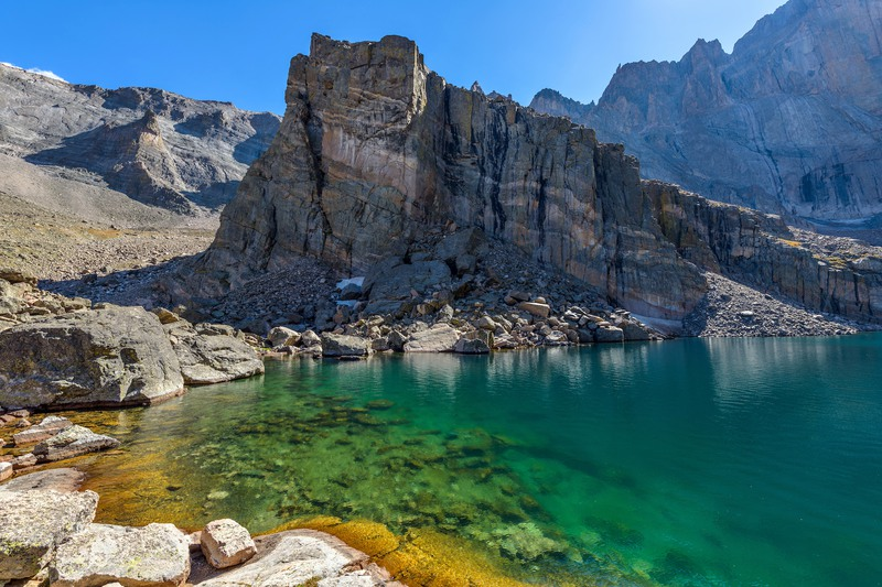 Chasm Lake in Rocky Mountain National Park.