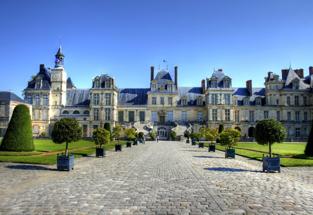 Chateau De Fontainebleau near Barbizon, France.
