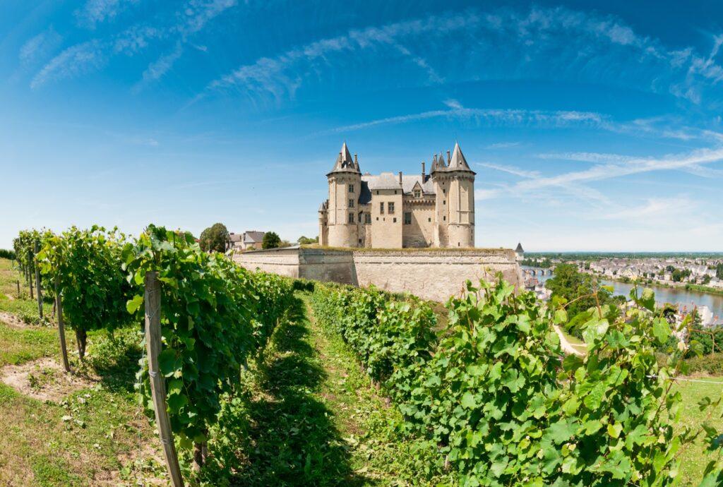 Chateau De Saumur in Loire Valley, France.