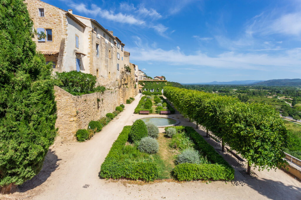 Chateau views in Lauris, France.