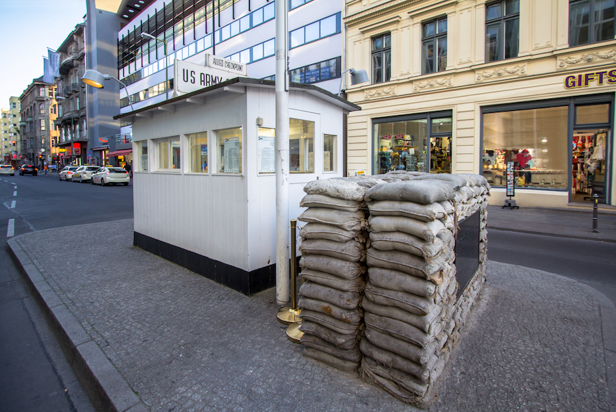 Checkpoint Charlie in Berlin, Germany.