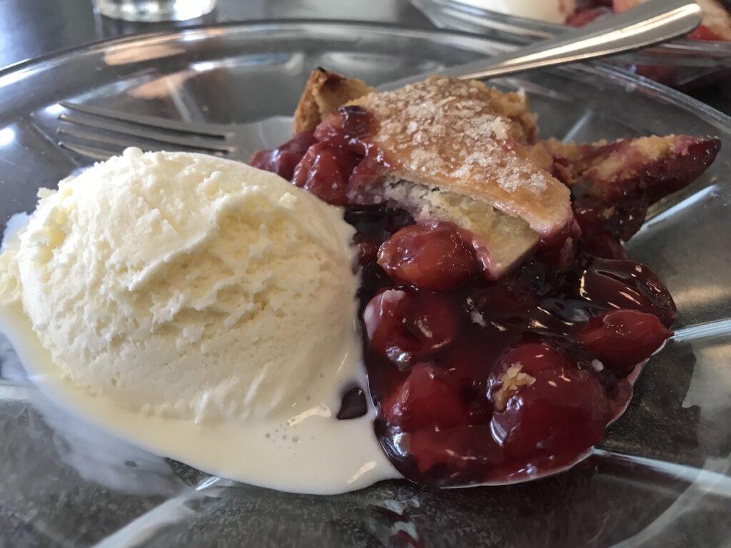 Cherry pie at Hubbard Avenue Diner.