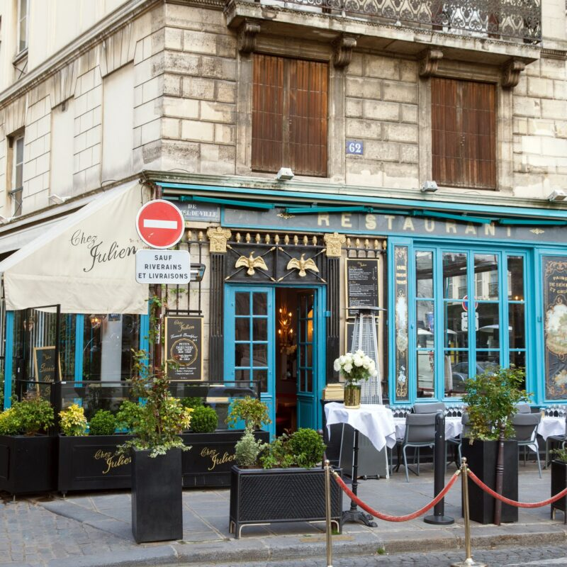 Chez Julien, a beautiful restaurant in Paris.