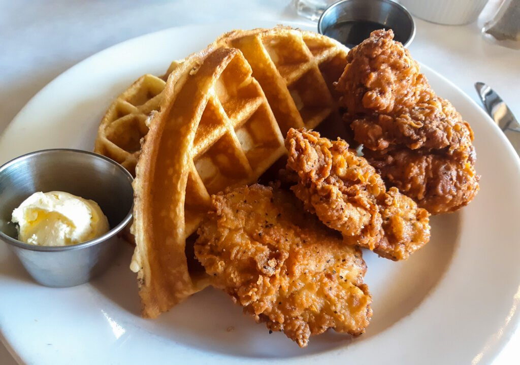 Chicken and waffles from Iron Horse Restaurant