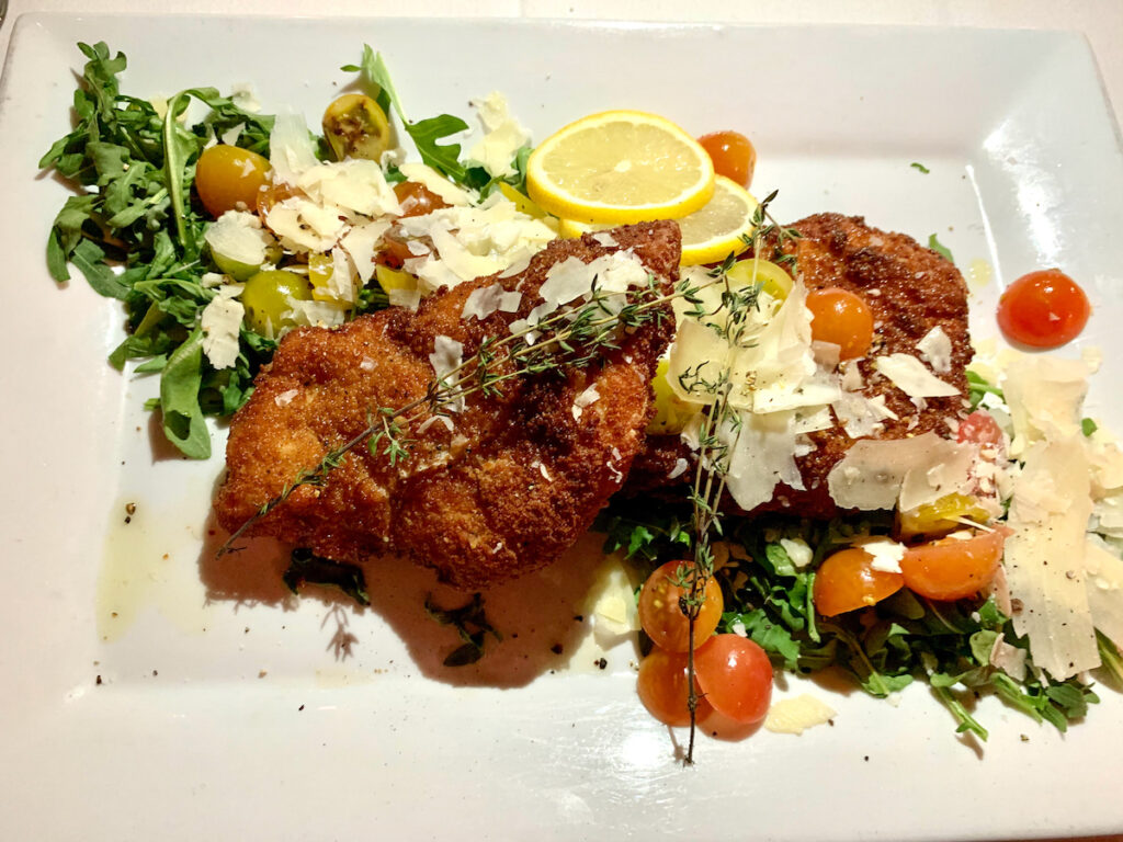 Chicken Milanese from Flavio's Brick Oven in Sarasota.
