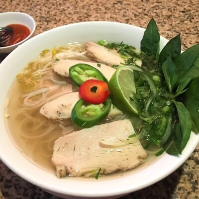 Chicken pho from Com Vietnamese Grill.