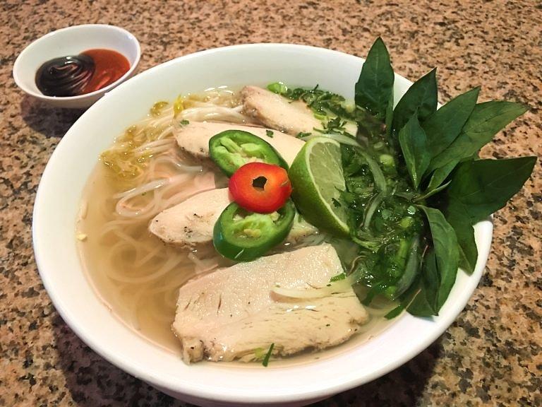 Chicken pho from Com Vietnamese Grill.