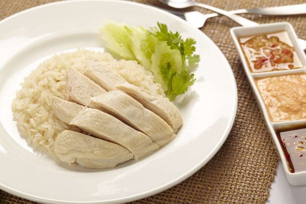 Chicken rice from Singapore.