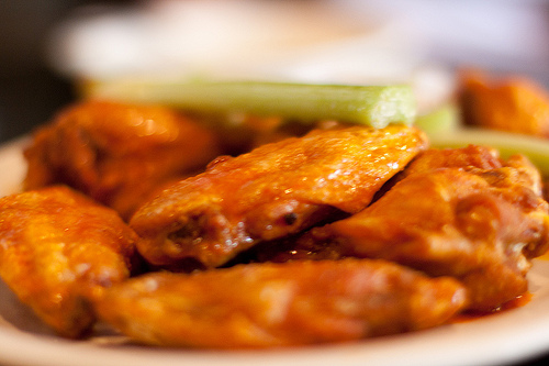 Chicken wings on a plate