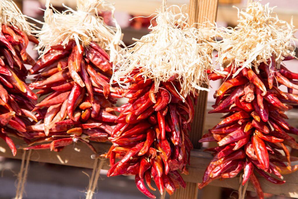 Chiles in Santa Fe, New Mexico.
