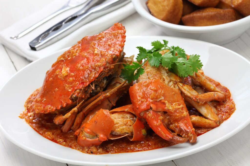 Chili crab from Singapore.