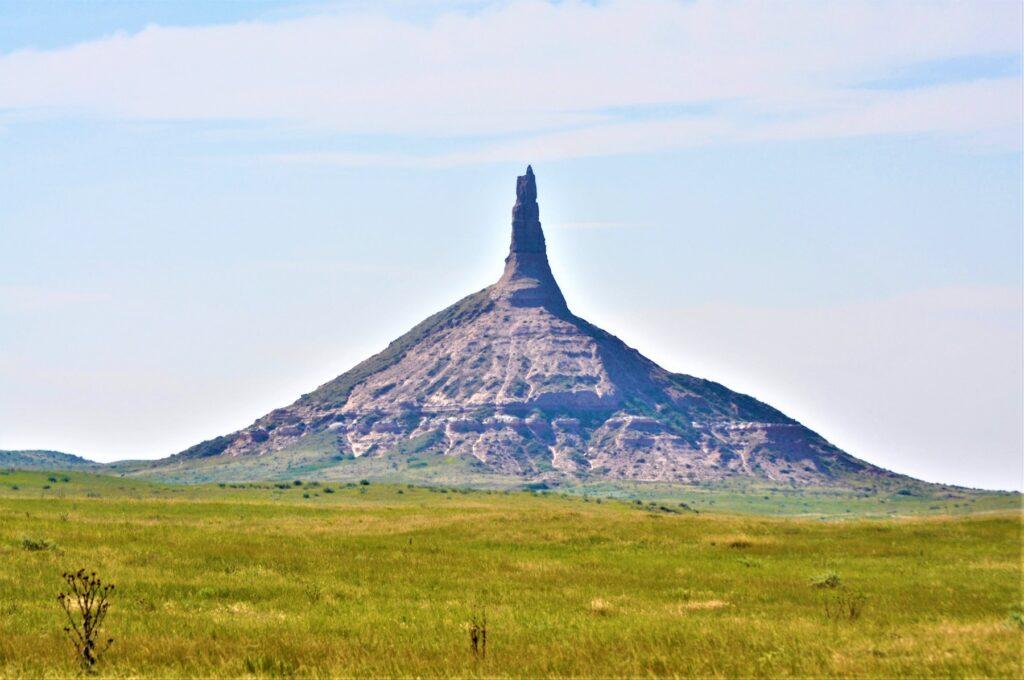 Chimney Rock National Historic Site in Bayard, Nebraska.